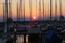 közeli yacht kikötő